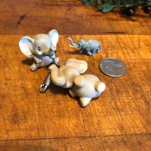 Vtg (🕊2/$10) set 6 Mini, elephant, skunk, dog